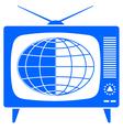 Globe in retro TV vector image vector image