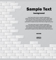gray brick wall with text vector image vector image