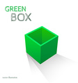 Green Box isolated on white background vector image vector image