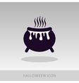 Halloween witch cauldron icon vector image vector image