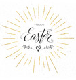 happy easter festive greeting card design of vector image vector image