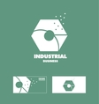 Industrial logo icon design vector image