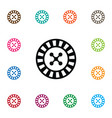 isolated gambling icon lucky element can vector image vector image