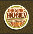 logo for organic honey vector image