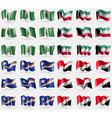 Norfolk Island Kuwait Marshall Islands Sealand vector image vector image