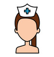 nurse professional woman of health shirtless vector image vector image