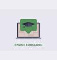 online training workshops flat style icons vector image