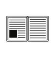 open book school vector image