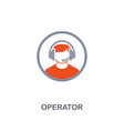 operator icon premium two colors style design vector image vector image