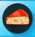 piece of cheese icon cheese vector image vector image