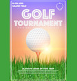 poster template of golf tournament vector image vector image