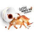 Poster wild coffee rhino vector image vector image