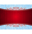 red background with decorative ornaments vector image