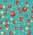 seamless pattern christmas ball tree ornament vector image vector image