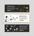 set of colorful autumn leaves banners vector image vector image