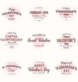 Set Of Happy Valentines Day Labels and Badges vector image