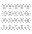 set round line icons of chemistry vector image