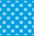 shop pattern seamless blue vector image vector image