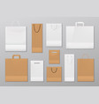 shopping bags made paper with handles isolated vector image
