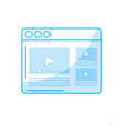 silhouette website with important videos vector image vector image