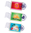 Stamp set vector image