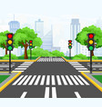 streets crossing in modern vector image