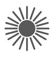 sun icon simple vector image