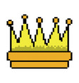 symbol of king crown video game element graphic vector image