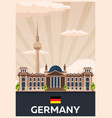 travel poster to germany flat vector image vector image