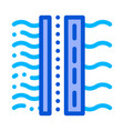 water treatment filter sign thin line icon vector image