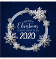 white blue merry christmas banner background vector image vector image