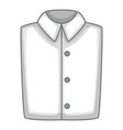 white folded shirt icon cartoon style vector image vector image