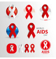 world aids day aids awareness medical signs vector image vector image