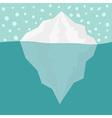 Iceberg Blue sea ocean water and snowflake Winter vector image