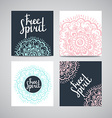Cards collection floral pattern background with vector image