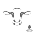 Cow and fresh milk vector image