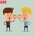 Business man show sign idea - - EPS10 vector image