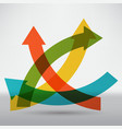 abstract arrow icon vector image vector image