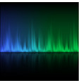 abstract equalizer background blue-green wave vector image vector image