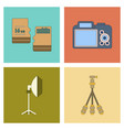 assembly flat icon technology camera professional vector image vector image