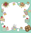 bakery doodle border blank vector image vector image