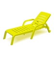 Beach chair with sun symbol on map pointer vector image vector image