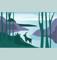 beautiful scene of nature peaceful summer vector image vector image
