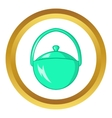 Bowler for food icon vector image vector image