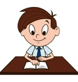boy at desk vector image