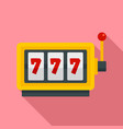 casino slot machine icon flat style vector image