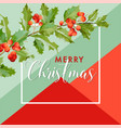 christmas winter holly berry banner graphic vector image vector image