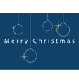 Christmas wishes - baubles and text 5x7 inches vector image vector image