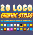 Comic Graphic Styles vector image