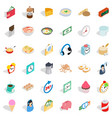 cooking food icons set isometric style vector image vector image